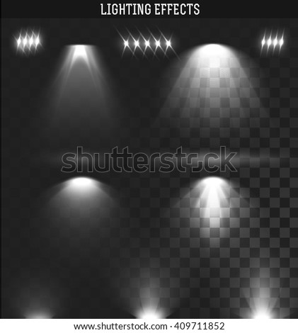 light effect set ies lights from the projector realistic isolated artificial and natural lighting artificial lighting set
