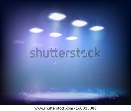 Light effect. Vector illustration. - stock vector