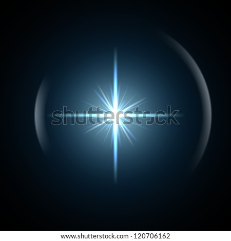Light flare special effect. vector illustration. - stock vector