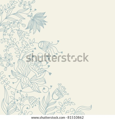 Light floral background - stock vector