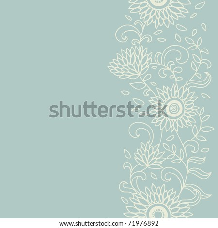Light floral seamless pattern - stock vector