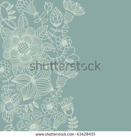 Light floral vintage background - stock vector