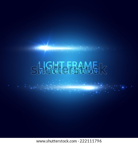 Light frame. Vector illustration - stock vector