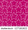 Light gray stars on grunge pink background, seamless pattern - stock photo