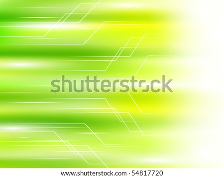 light green abstract background with concept of speed - stock vector
