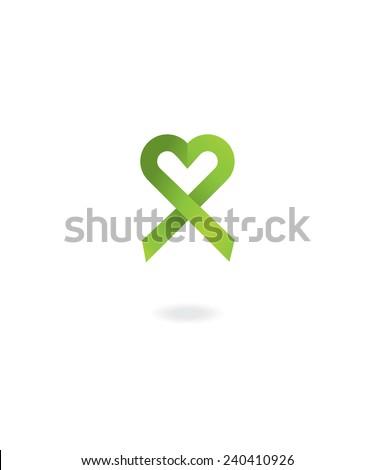 Light green awareness ribbon - stock vector