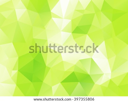 Light green polygonal background . Abstract mosaic . - stock vector