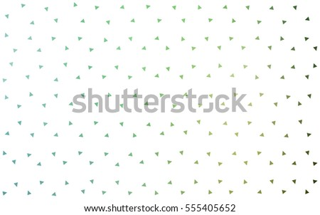Light Green vector abstract colorful background, which consist of triangles. Pattern with colored triangles on white background.