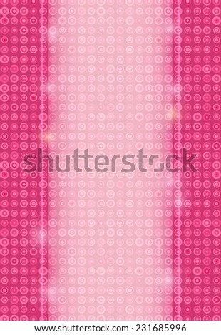 Light Invitation Card Banner with Pink Dotted Backdrop and Place for Text - stock vector