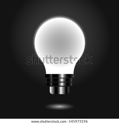 Light Lamp, object on a grey background, Vector design