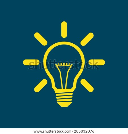 Light lamp sign icon. Idea bulb symbol. - stock vector