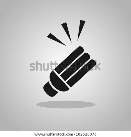 Light lamps icon - stock vector