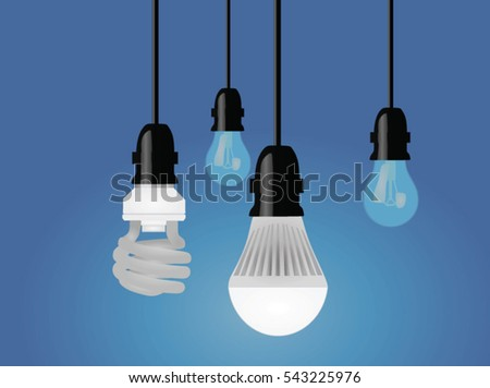 Light led bulb vector