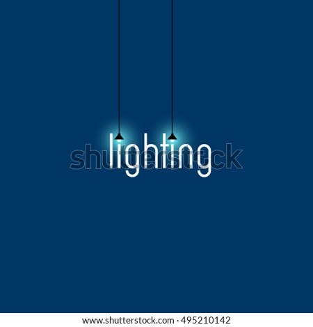 Light logo. Lighting store logo.