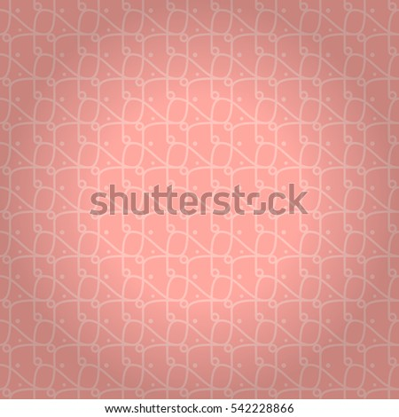 Light pink fancy seamless pattern in node style. Classic decor. Vivid, symmetrical design for wallpaper, curtain, ads or other purpose. Smooth tessellated repeatable backdrop. Vector background.