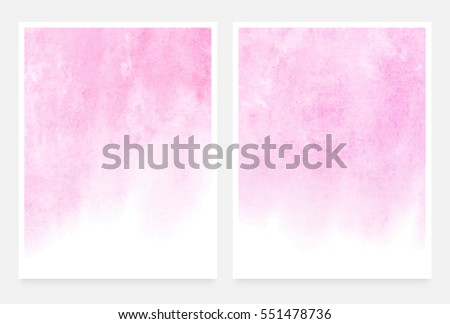 Light pink textures, abstract hand painted watercolor backgrounds, greeting card or invitation templates, vector illustraton