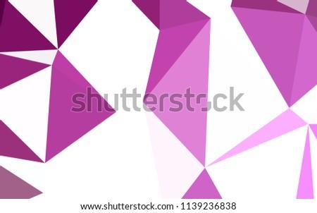 light pink vector gradient triangles template stock vector