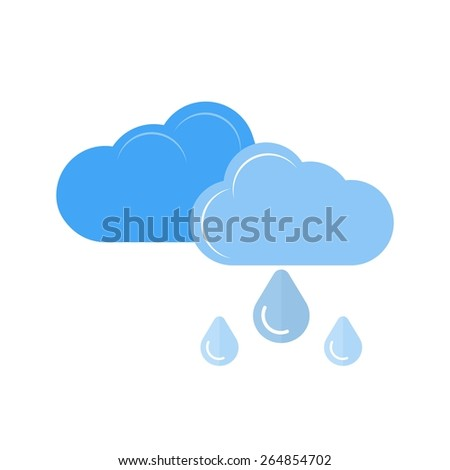 Light Rain vector image recommended for use in web applications, mobile applications, and print media.