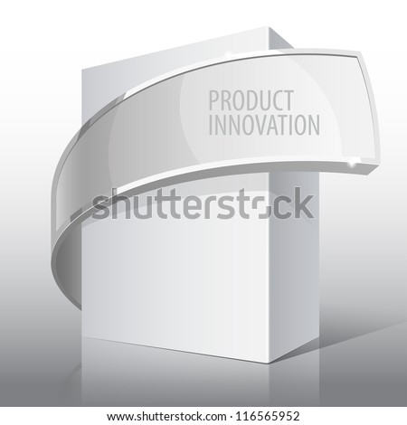 Light Realistic Package Cardboard Box. For presentation Software, electronic device and other products. Vector illustration - stock vector