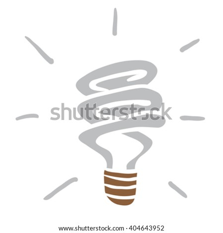 light saving bulb cartoon - stock vector