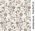 Light seamless floral pattern in vector - stock