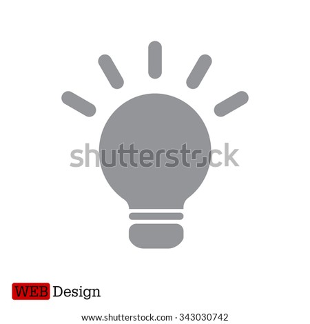 light sign ideas, web icon. vector design - stock vector