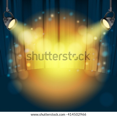 light spots on curtains background. vector illustration