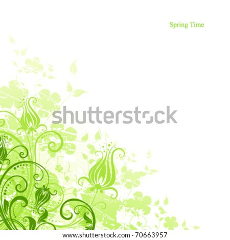 light spring background - stock vector