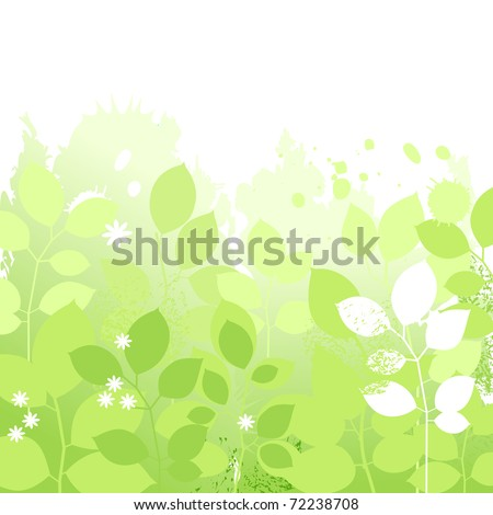 Light spring floral background - stock vector