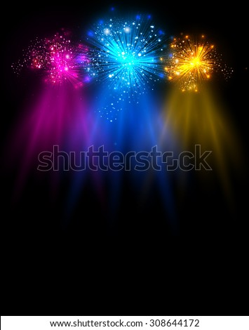 light stage with light and Sparkling you can easy editable - stock vector
