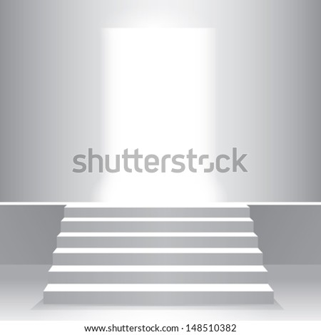 light stairs - stock vector