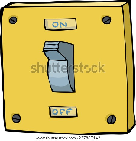 Light switch on a white background vector illustration - stock vector