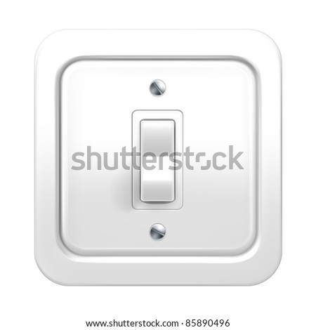 Light switch, vector - stock vector