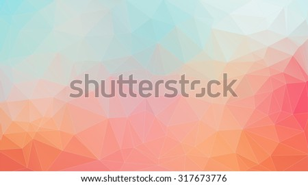 Light tial and orange shape composition background for web design - stock vector