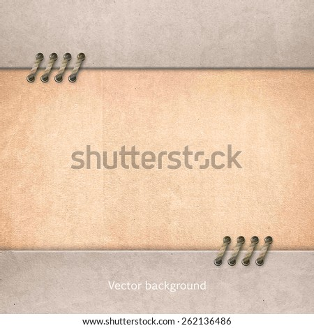 light vintage paper, cardboard background, retro vector background  - stock vector