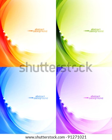 Light waves vector abstract eps10 backgrounds - stock vector