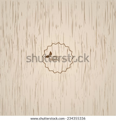 Light wood background. Panel with a fibrous structure of the tree. Wooden texture. Vector - stock vector