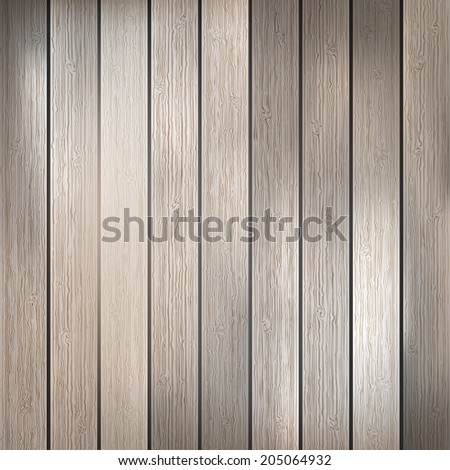 Light wooden planks, painted with environmentally friendly colors, vertical. plus EPS10 vector file - stock vector