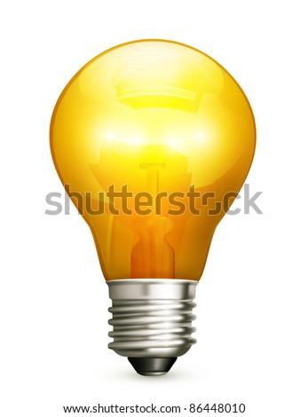 Lightbulb, 10eps - stock vector