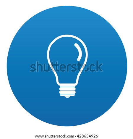 vector square blue icon lighting bulb. lightbulb icon on blue buttonvector vector square lighting bulb 1