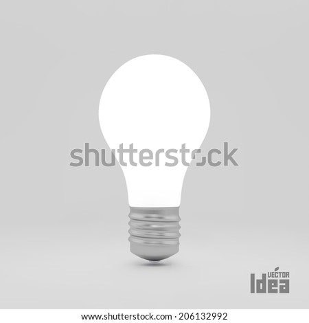 Lightbulb idea symbol. 3d vector illustration. Can be used as background for your business presentation.  - stock vector