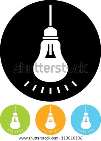 Lightbulb shining - Vector icon - stock vector
