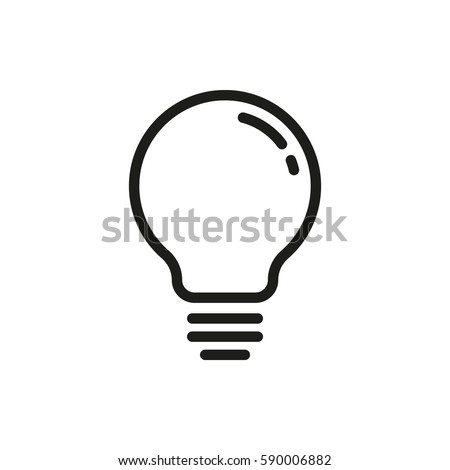 lightbulb vector icon stock vector 2018 590006882 shutterstock rh shutterstock com light bulb icon vector vector light bulb clip art