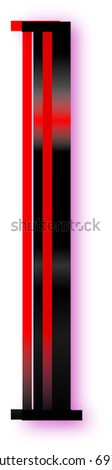 lighted one - stock vector