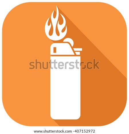 lighter flat icon