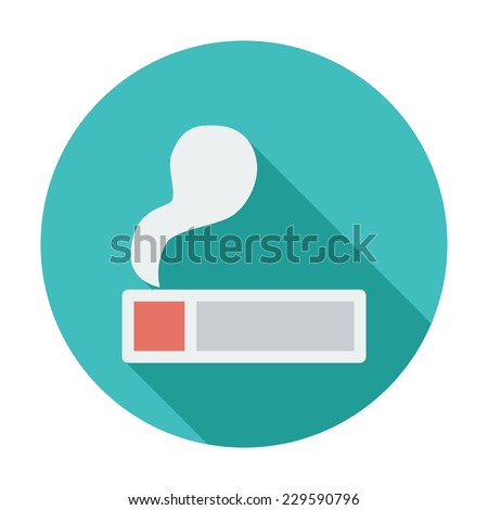 Lighter. Single flat color icon. Vector illustration. - stock vector