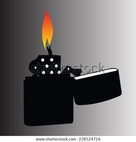 lighter vector illustration - stock vector