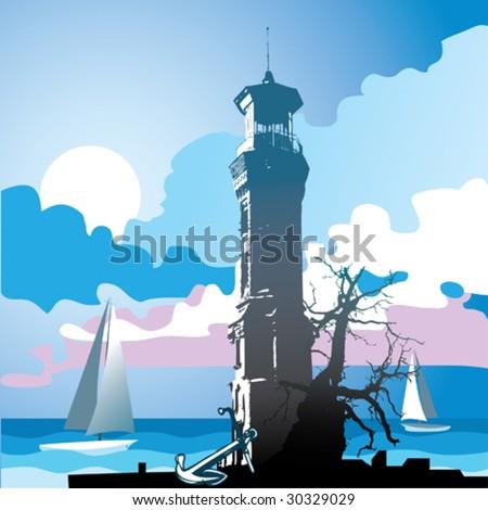 lighthouse - stock vector