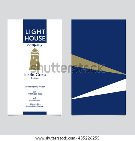 Lighthouse business sign business card vector stock vector 435226255 lighthouse business sign business card vector template lighthouse with light beam icon nautical wajeb Images