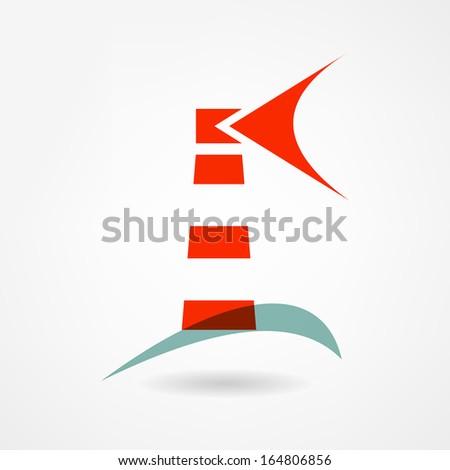 Lighthouse icon - stock vector